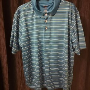 George Blue Stripped Polo